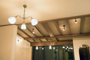 (after)リビング中庭側 天井&デザイン垂木