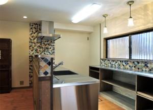 (after)対面式キッチン&大容量の補助カウンター